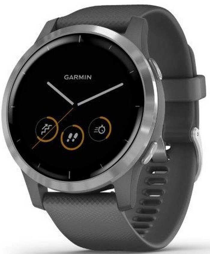 Garmin VívoActive4 Silver/Gray Band