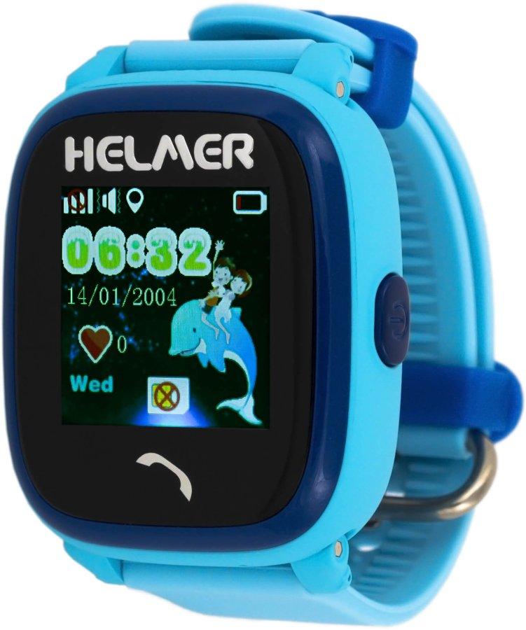Helmer Chytré dotykové vodotěsné hodinky s GPS lokátorem LK 704 modré