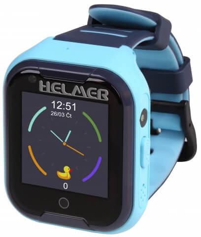 Helmer LK 709 4G modré - dětské hodinky s GPS lokátorem, videohovorem, vodotěsné